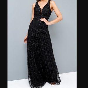Little Mistress black sequin maxi dress